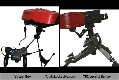 Virtual Boy Totally Looks Like TF2 Level 1 Sentry