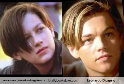 John Connor (Edward Furlong) from T2 Totally Looks Like Leonardo Dicaprio