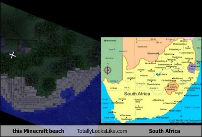 this Minecraft beach Totally Looks Like South Africa