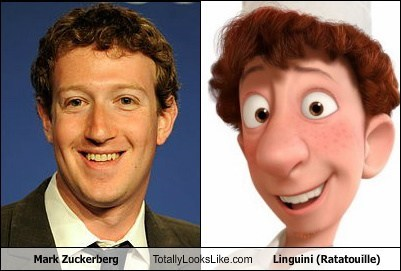 Mark Zuckerberg Totally Looks Like Linguini (Ratatouille)