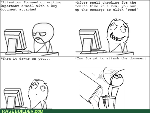 Rage Comics: The Attachment Was My Resume!