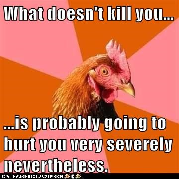 Anti-Joke Chicken: Be Careful Out There