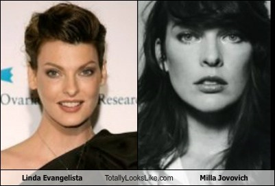 Linda Evangelista Totally Looks Like Milla Jovovich
