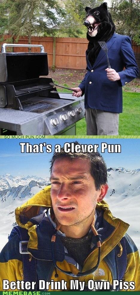 bear,bear grylls,grlls,puns