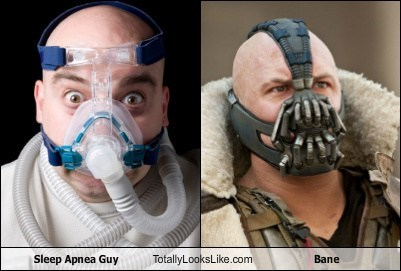 Sleep Apnea Guy Totally Looks Like Bane (Tom Hardy)