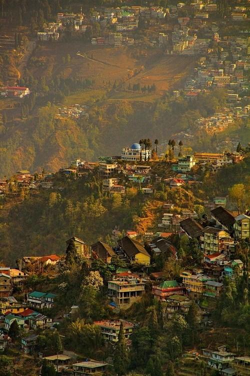 city,india,mountain,sunrise
