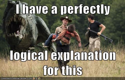 Andrew Lincoln,dinosaur,explanation,Jon Bernthal,logical,Rick Grimes,shane walsh,The Walking Dead