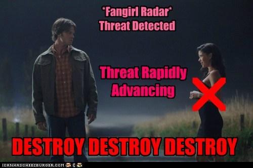 advancing detection,crossroads,demon,destroy,fangirl,Jared Padalecki,sam winchester,Supernatural,threat