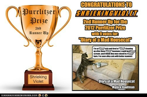 2012 Purrlitzer Prize - 2nd Runner Up - Shriekingviolet
