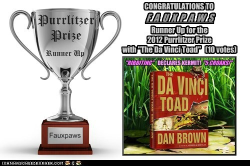 2012 Purrlitzer Prize - Runner Up - Fauxpaws