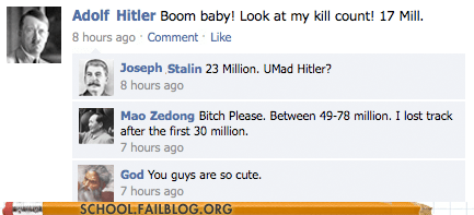 class is in session,game on,god,History 450,hitler,Mao Zedong,stalin