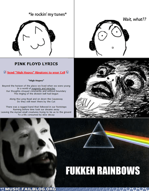 comic,high hopes,ICP,insane clown posse,magnets,miracles,Music FAILS,pink floyd,rage comic