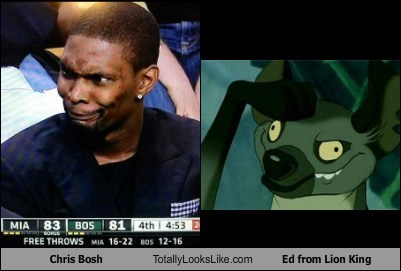 Chris Bosh Totally Looks Like Ed from Lion King