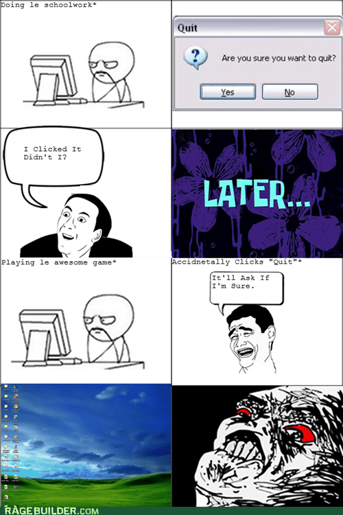 Rage Comics: This is Worse Than the Time I Lost My Final Paper