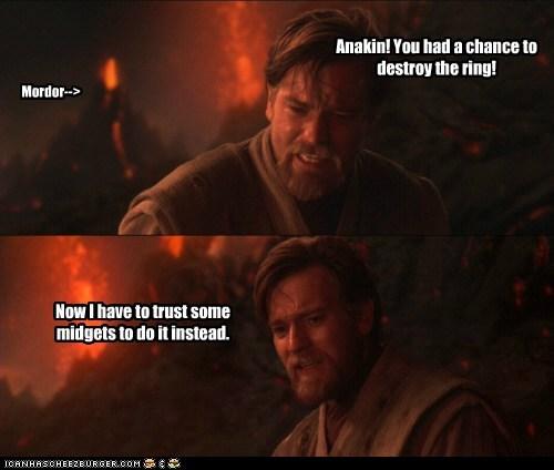 anakin skywalker,destroy,ewan mcgregor,mordor,obi-wan kenobi,Revenge of the Sith,star wars,the ring