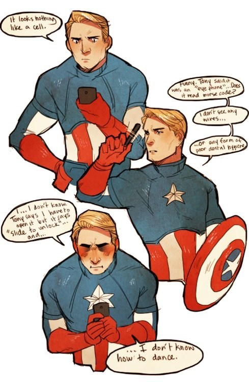 Autocowrecks: Captain America Doesn't Understand Your New-Fangled Technology