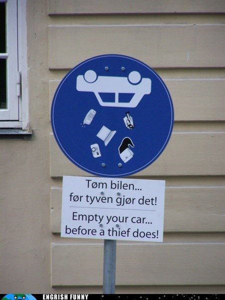 Empty your car