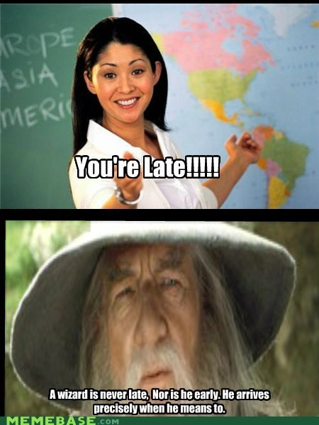 Gandalf owns teacher