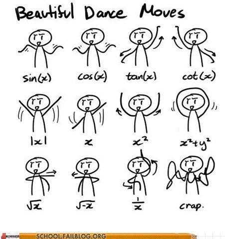 class is in session,cot,dance math 101,g rated,math,School of FAIL,sin cos,tan