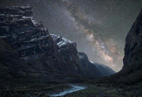 Himalayan Mountains,milky way,nepal,night,stars