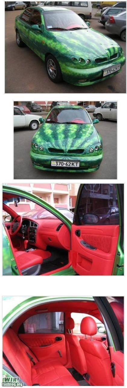 car,custom,design,pimp my ride,watermelon