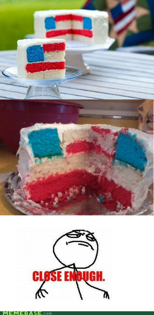 america,cake,Close Enough,flag,fourth of july,Nailed It