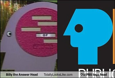 Billy The Answer Head Totally Looks Like Old PBS Logo Head
