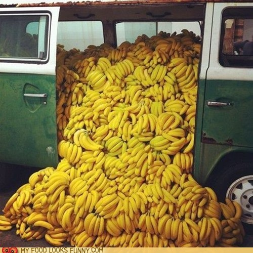 accident,bananas,disaster,spill,van