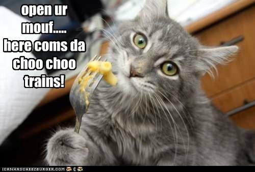 open ur mouf..... here coms da choo choo trains!