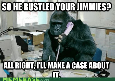 Thou shalt not rustle jimmies.