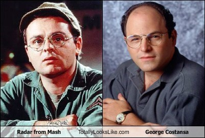 Radar (Gary Burghoff) from Mash Totally Looks Like George Costansa (Jason Alexander)