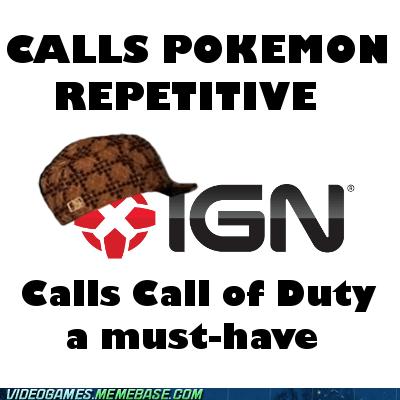 call of duty,IGN,Memes,Pokémon,repetitive,scumbag