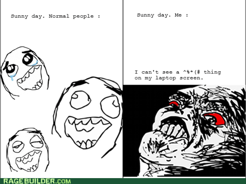 Rage Comics: My Screen is Hideously Dirty!