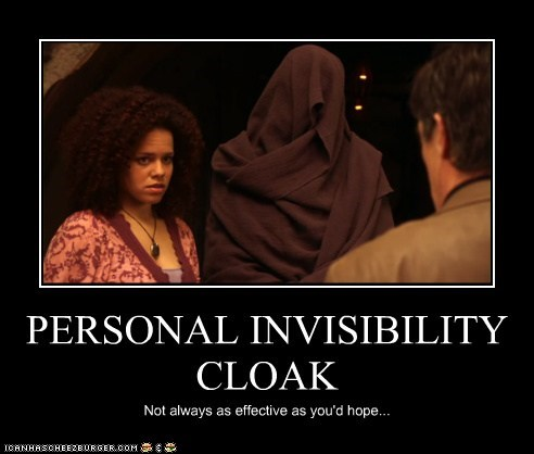FAIL,genelle williams,invisibility cloak,leena,not effective,warehouse 13