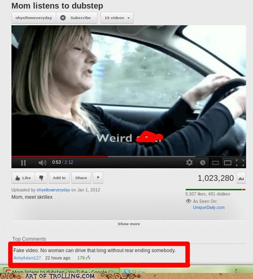 driving,dubstep,women,youtube