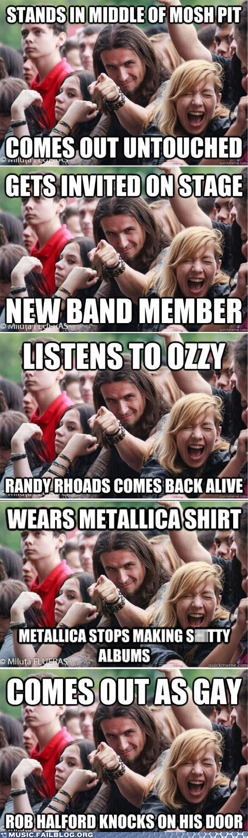 Music FAILS: Ridiculously Photogenic Metalhead