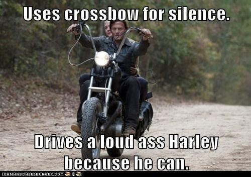 awesome,crossbow,daryl dixon,Harley,loud,motorcycle,norman reedus,The Walking Dead,zombie
