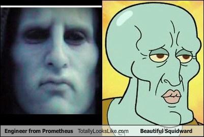 Engineer from Prometheus Totally Looks Like Beautiful Squidward