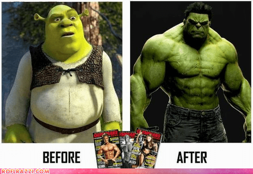 film,funny,shrek,the hulk