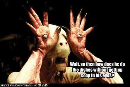 demon,dishes,eyes,monster,pans-labyrinth,soap