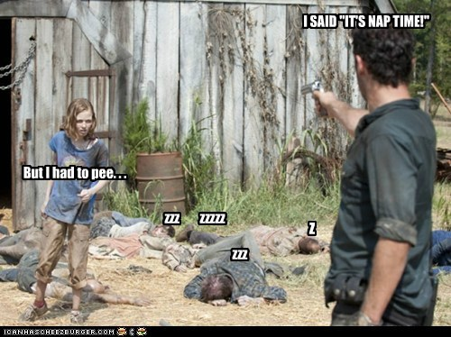 Andrew Lincoln,day cares,gun,nap time,Rick Grimes,sophia,threat,The Walking Dead,zombie