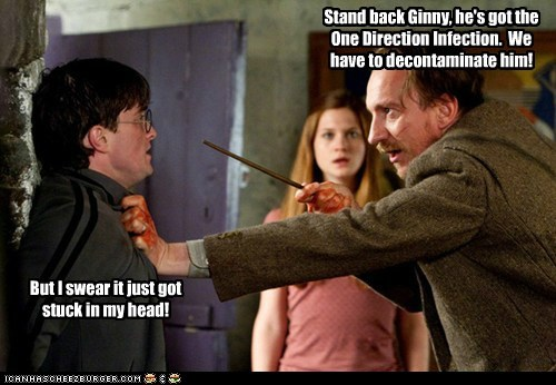 bonnie wright,cursed,Daniel Radcliffe,david thewlis,ginny weasley,Harry Potter,infection,one direction,professor lupin,stand back