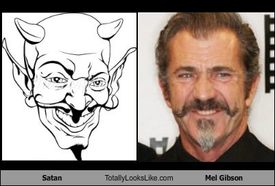 Satan Totally Looks Like Mel Gibson