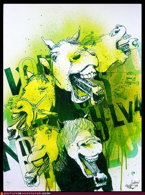 alien,horses,Movie,wtf