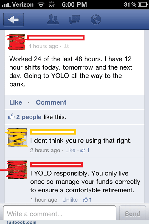 Failbook: The Other Side of YOLO
