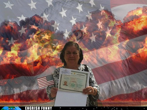 Engrish Funny: Photoshopping a U.S. Citizenship Celebration