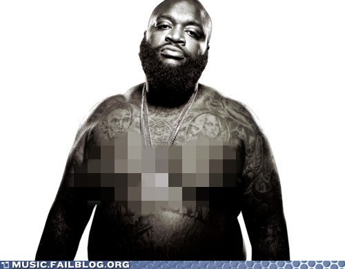 Rick Ross' Teats Shouldn't Be Seen by Anyone Under 18