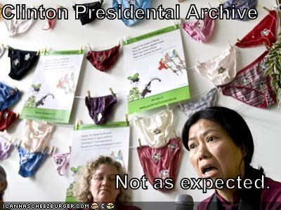 Clinton Presidental Archive  Not as expected.