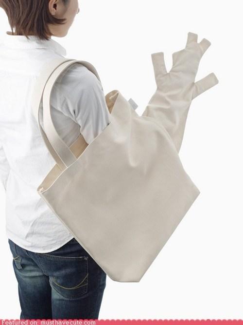 bag,canvas,puppet,secret,surprise,tote