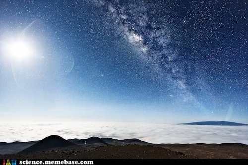 The Moon and Milky Way